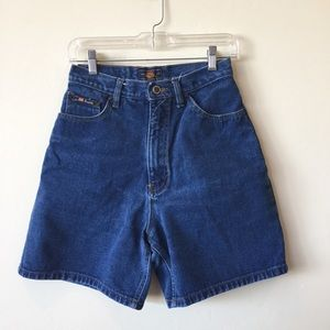 Route 66 High Waisted Vintage Denim Shorts